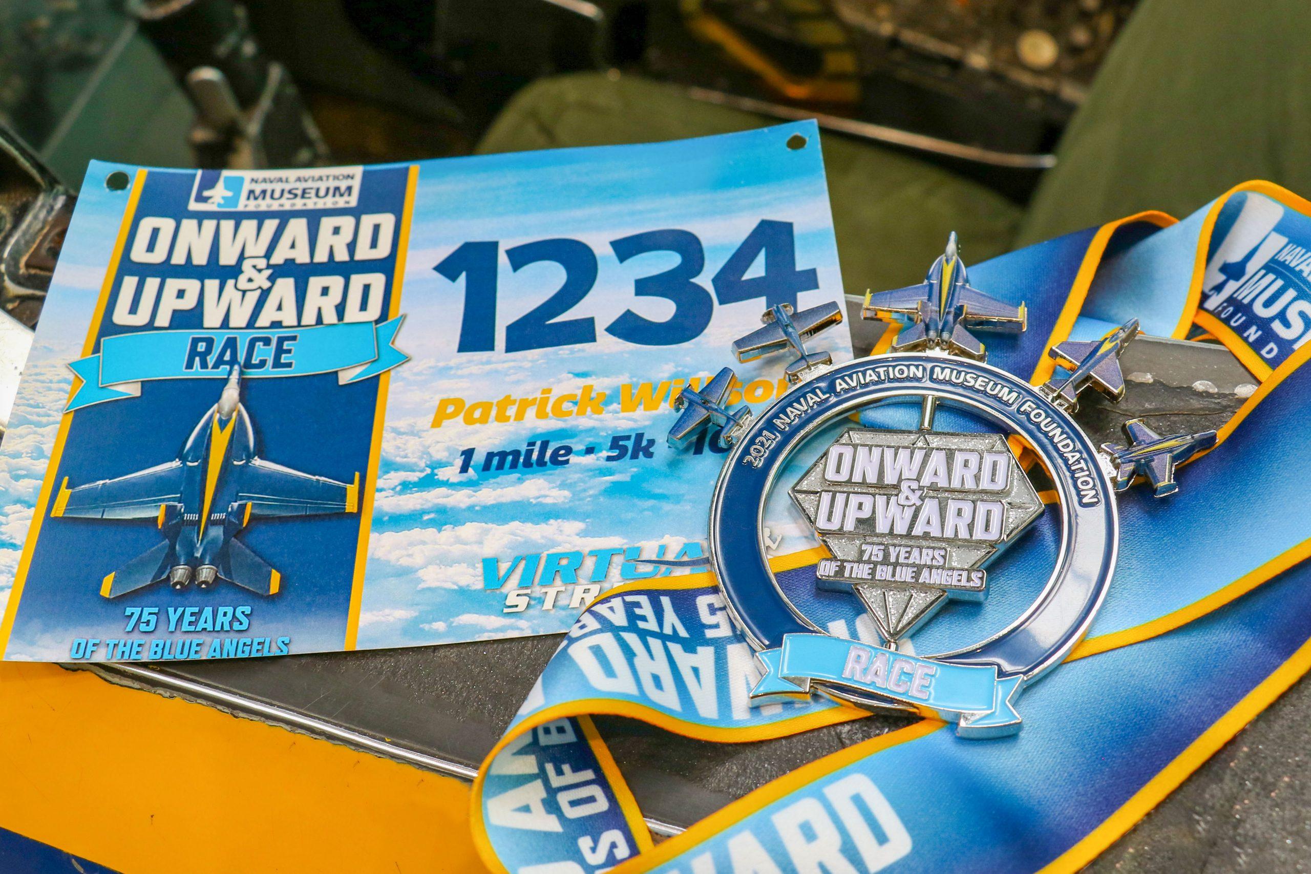 Blue Angel Race Medal n Bib 2